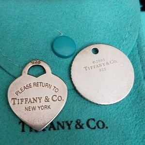 2pcs Return to Tiffany & Co. Charms One Engraved